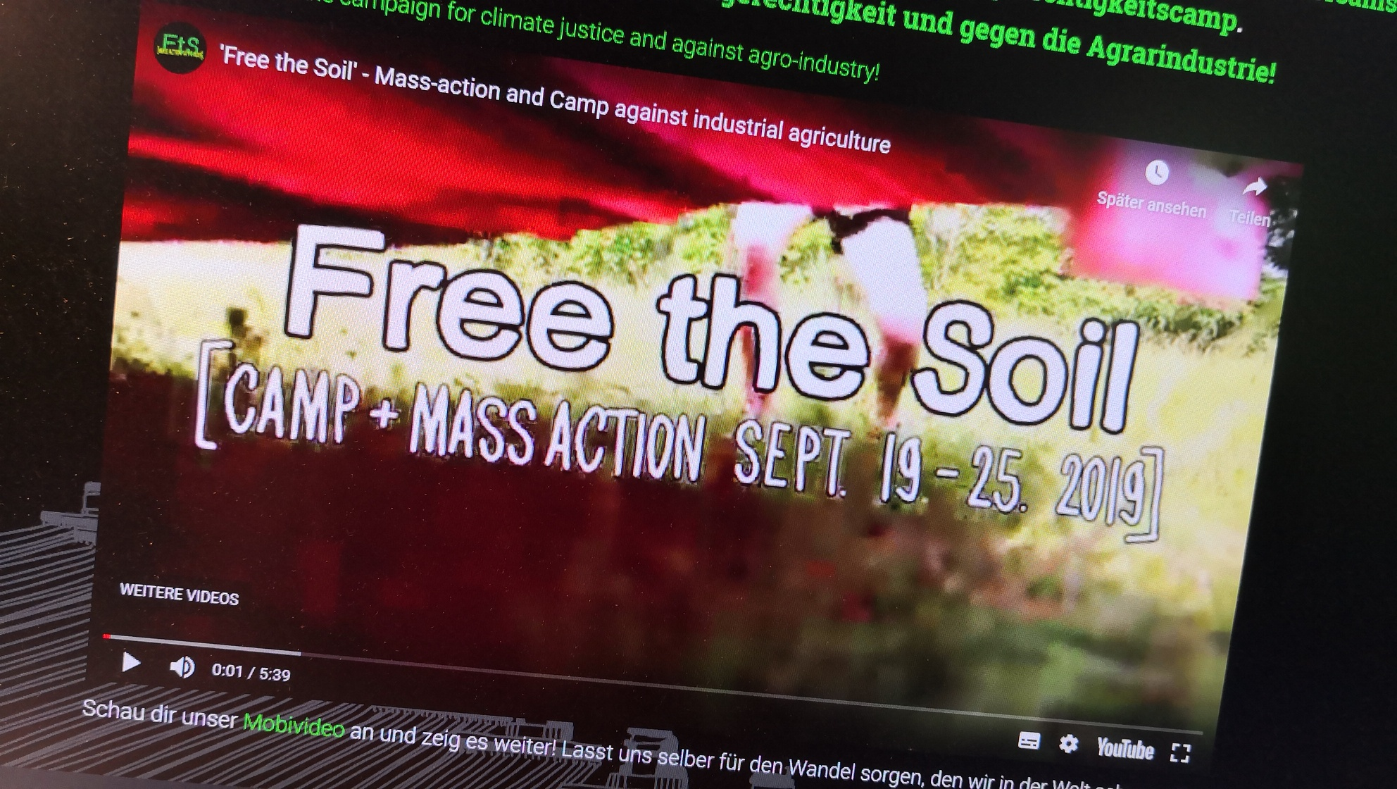 Kampagnenvideo Still - Free the Soil